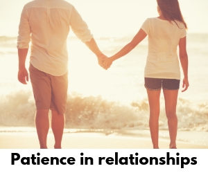 Patience in relationships