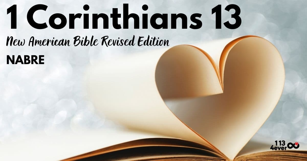 1 Corinthians 13   New American Bible   Revised Edition   NABRE