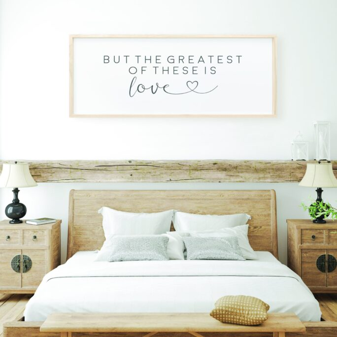 But The Greatest Of These Is Love, Love Sign, Home Decor, Wall Art Sign, Typography Sign, Frame Sign, Wood Frame Sign, Wooden Sign, Love Quote