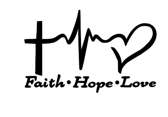 Christian Iron On Vinyl Decal Transfers For T-Shirts/Pillow Cases/Fabric Faith Hope Love