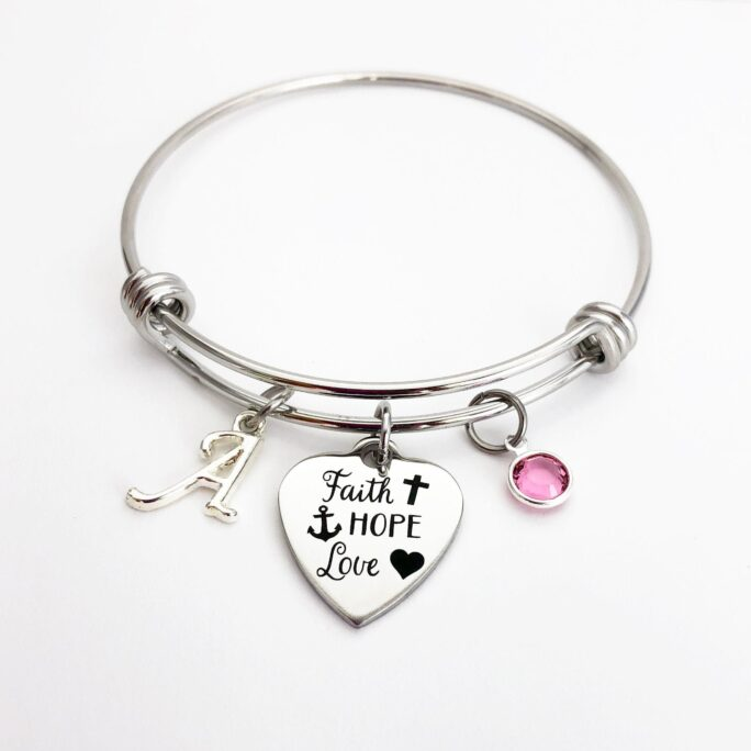 Faith Gifts, Christian Gifts For Women, Adjustable Bracelets Birthday Her, Bracelet, Hope Love Jewelry