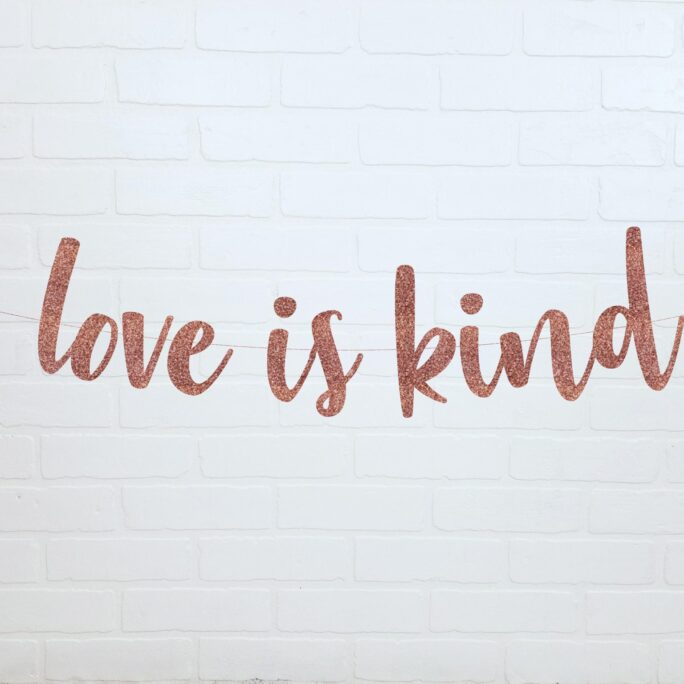 Love Is Kind   Patient Christian Wedding Banners Bridal Shower Decorations Ceremony Banner