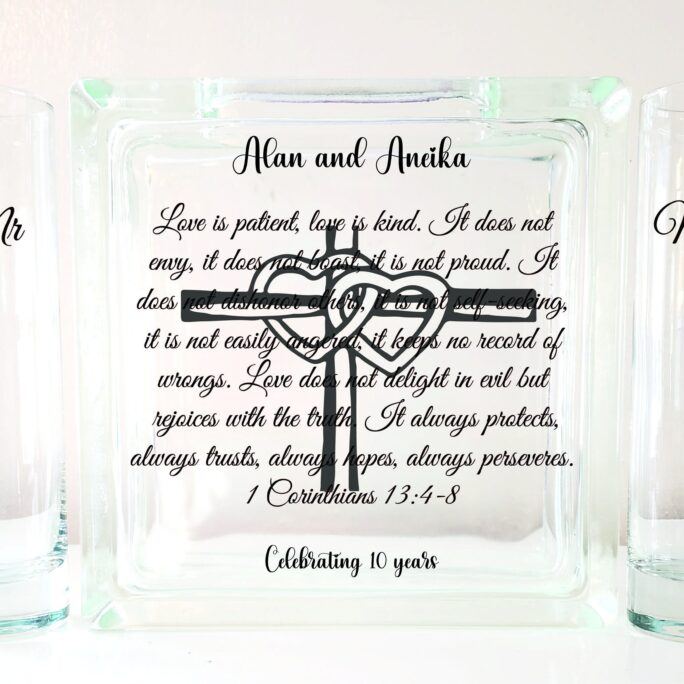 Love Is Patient Kind Blended Family Unity Sand Ceremony Set-Tpuwus362