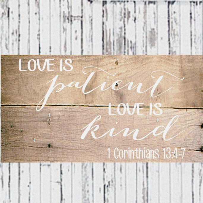 Love Is Patient Kind - Stencil Reusable Stencil- 5 Sizes Available- Create Your Own Romantic Signs