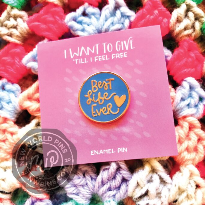 Best Life Ever Rose Gold Enamel Pin -Jw Gifts - Pioneer Best Life Ever