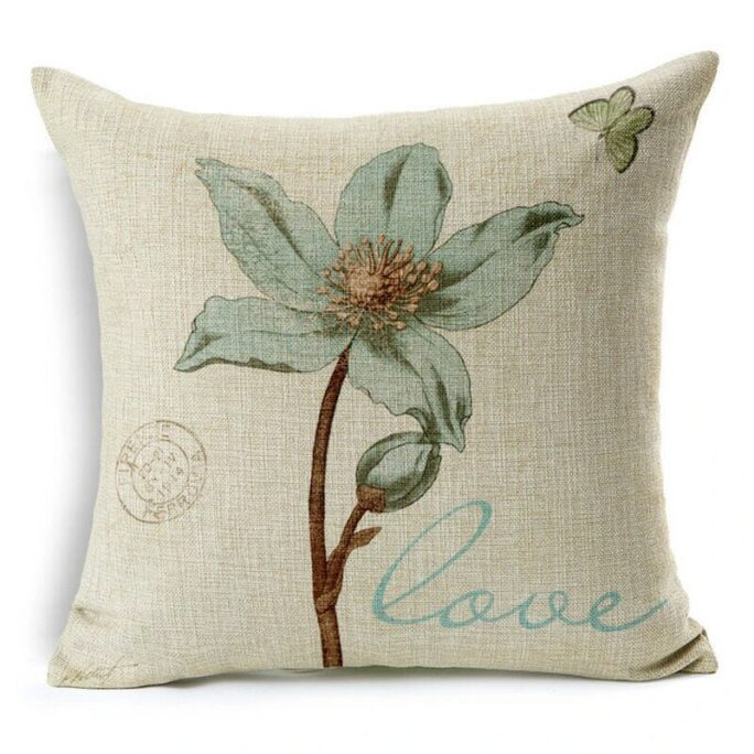 Faith Hope Love Peace Floral 18x18 Pillow Cover, Throw Pillow, Accent, Bedroom Housewarming Gift, Everyday Wedding Anniversary